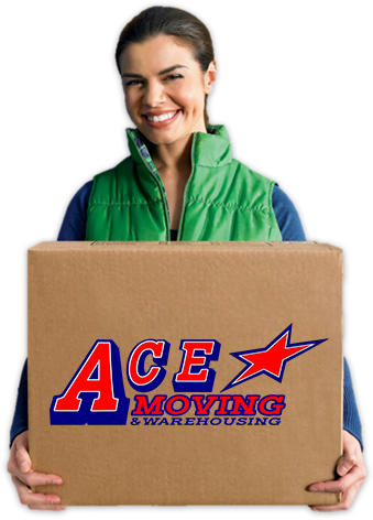 Women holding a moving box.